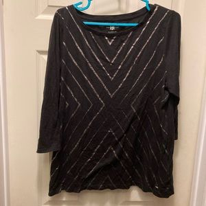 3/20$ Tommy Hilfiger classic for sequin 3/4 sleeve